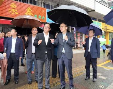 市委书记、新区党工委书记俞东来到普陀专题调研城市基层党建引领全民创城工作